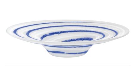 LSA BATIK BATIK PLATTER〈WHITE/COBALT〉380mm 【花瓶】<箱入り>