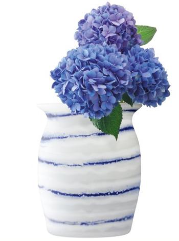LSA BATIK BATIK PLATTER〈WHITE/COBALT〉H260mm 【花瓶】<箱入り>