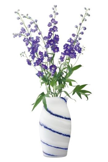 LSA BATIK BATIK PLATTER〈WHITE/COBALT〉H395mm 【花瓶】<箱入り>