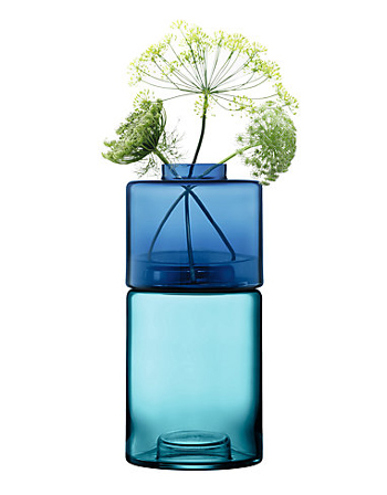 LSA STACK STACK VASE DUO〈BLUE〉H360mm 【花瓶】<箱入り>