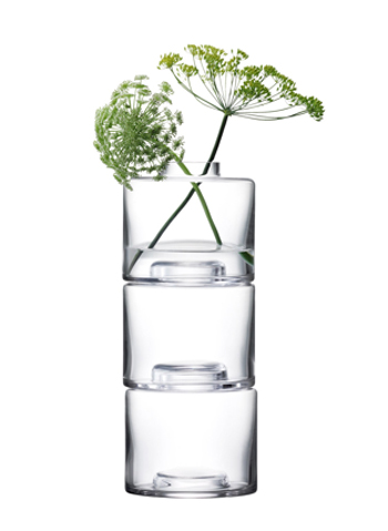 LSA STACK STACK VASE TRIO〈CLEAR〉H300mm 【花瓶】<箱入り>