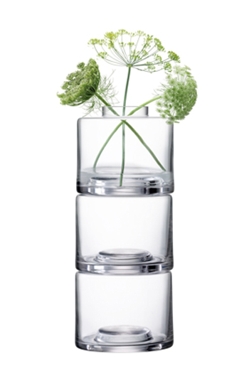 LSA STACK STACK VASE TRIO〈CLEAR〉H415mm 【花瓶】<箱入り>