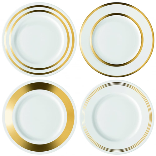 LSA DECODeco Starter/Dessert Plate Gold Assortedゴールド【4枚セット】