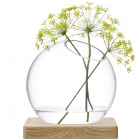 LSA AXISVASE & Ash Base〈CLEAR〉H220mm 【花瓶】<箱入り>
