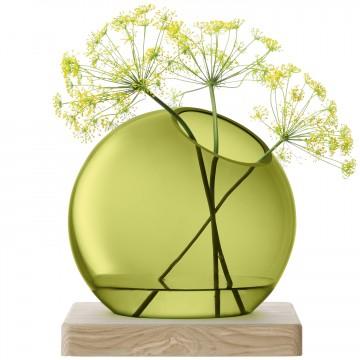 LSA AXISVASE & Ash Base〈olive green グリーン〉H220mm 【花瓶】<箱入り>