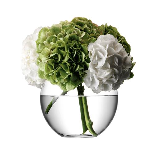 LSA FLOWER Round Bouquet Vase ベース H220mmクリアー<花瓶>