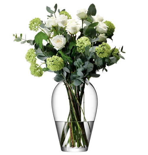 LSA FLOWER Grand Bouquet Vase ベース H350mmクリアー<花瓶>