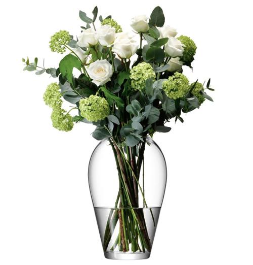 LSA FLOWER Grand Bouquet Vase ベース H350mmクリアー<花瓶>
