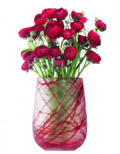 LSA SILKVASE ベース H230mmRED<花瓶>