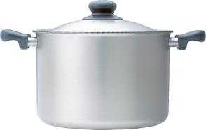 柳宗理デザイン ステンレス アルミ3層鋼シリーズ(電磁調理器対応)深型 両手鍋 22cm つや消し