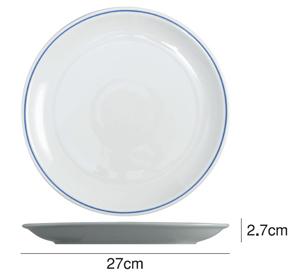 Saturniaのイタリア製食器 [サタルニア]ローマブルーラインディナープレート※27cm【6枚セット】