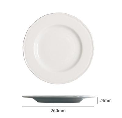 Saturniaのイタリア製食器 [サタルニア]praga プラガ ディナーププレート 26【6枚セット】