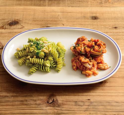 Saturniaのイタリア製食器 [サタルニア]シカゴ ブルーライン 28【5枚セット】