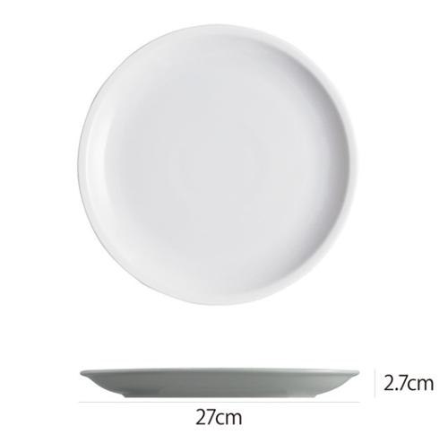 Saturniaのイタリア製食器 [サタルニア]ローマプレーンディナープレート※27cm【6枚セット】
