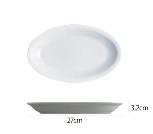 Saturniaのイタリア製食器 [サタルニア]ローマプレーンオーバルプレート※27cm【5枚セット】