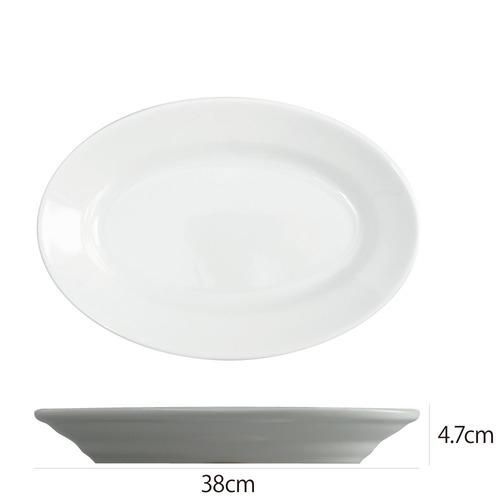 Saturniaのイタリア製食器 [サタルニア] チボリ オーバルプレート※38cm【6枚セット】