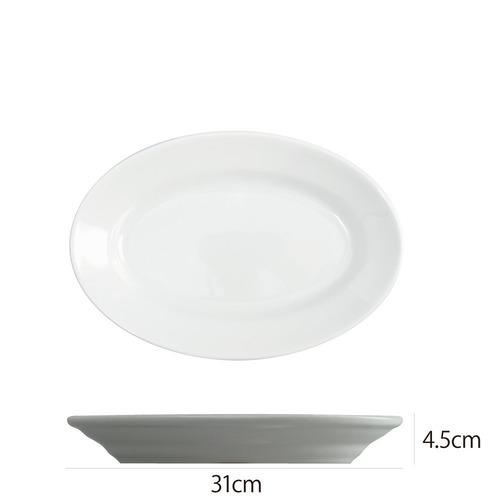 Saturniaのイタリア製食器 [サタルニア] チボリ オーバルプレート※31cm【5枚セット】