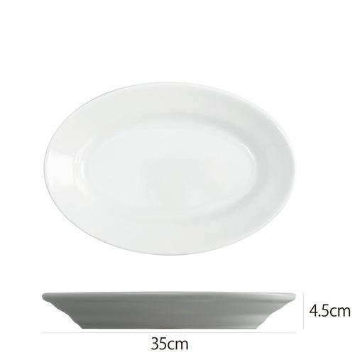 Saturniaのイタリア製食器 [サタルニア] チボリ オーバルプレート※35cm【5枚セット】