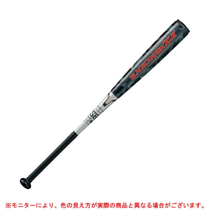 ZETT(ゼット)軟式用FRP製バット ブラックキャノンZII(BCT35913)(M号対応/野球/ベースボール/軟式/トップバランス/カーボン製バット/一般用)