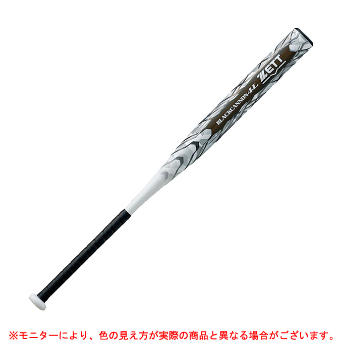 ZETT (ゼット)ソフト用FRPバット ブラックキャノン4L(BCT53884)(スポーツ/ソフトボール/3号ゴムボール用/カーボン/ヘッドバランス/一般用)