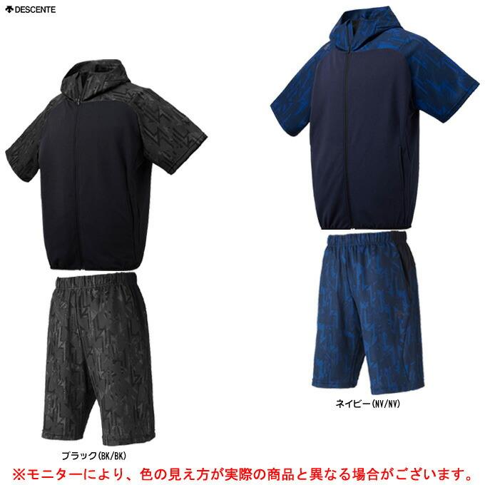 DESCENTE(デサント)半袖スウェット 上下セット(DBMNJF21SH/DBMNJG21SH)(スポーツ/野球/ベースボール/トレーニング/ウェア/半袖/短パン/男性用/メンズ)