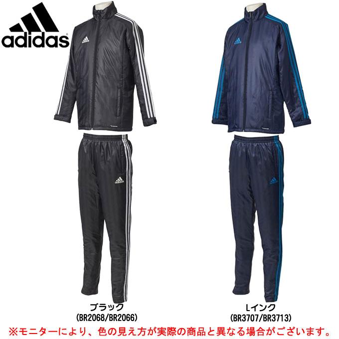 adidas(アディダス)SHADOW 中綿 ウォーマージャケット パンツ 上下セット(DLK14/DLK23)(スポーツ/トレーニング/ジャケット/パンツ/男性用/メンズ)