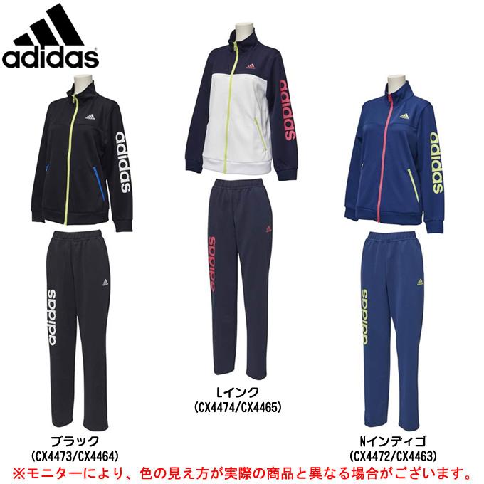 adidas(アディダス)W TEAM リニアジャージジャケット TEAM パンツ 上下セット(EUA68 パンツ/EUA64)(スポーツ/トレーニング/ランニング/カジュアル/女性用/レディース), 川上村:f909c362 --- sunward.msk.ru