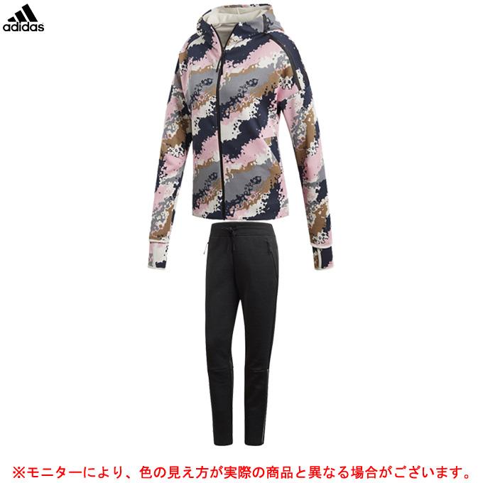 adidas(アディダス)W Z.N.E. フーディー オール オーバー プリント パンツ 上下セット(FSC46/EUD75)(スポーツ/トレーニング/フィットネス/ジャケット/パンツ/女性用/レディース)