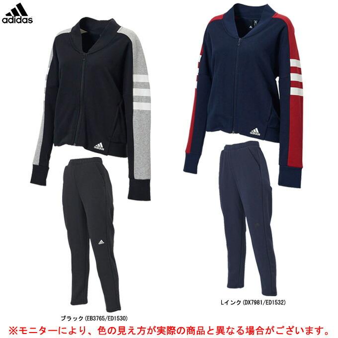 adidas(アディダス)W SID カラーブロック ボンバージャケット パンツ 上下セット(FWS93/FYJ97)(スポーツ/トレーニング/カジュアル/女性用/レディース)