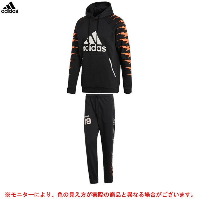 adidas(アディダス)M ID グラフィックフーディー パンツ 上下セット(FWX37/FWX38)(スポーツ/トレーニング/ランニング/カジュアル/男性用/メンズ)