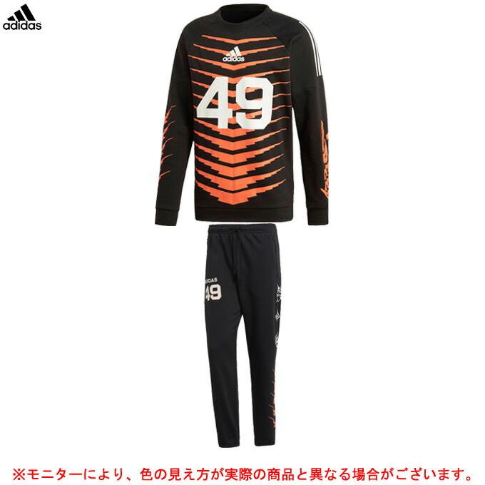 adidas(アディダス)M ID グラフィッククルースウェット パンツ 上下セット(FWY71/FWX38)(スポーツ/トレーニング/ランニング/カジュアル/男性用/メンズ)