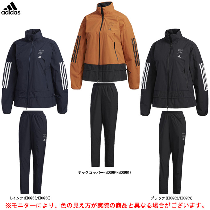 adidas(アディダス)W ID ウインド ジャケット パンツ 上下セット(FYI88/FYI89)(スポーツ/トレーニング/ランニング/フィットネス/防風/女性用/レディース)