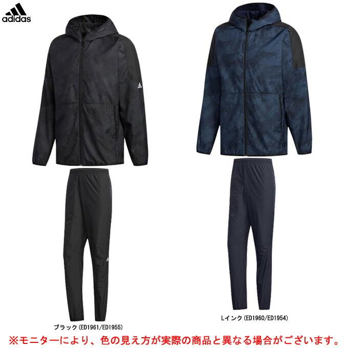 adidas(アディダス)M MUSTHAVES CAMOグラフィック ウインドフルジップパーカー パンツ 上下セット(FYK15/FYK38)(スポーツ/トレーニング/ランニング/カジュアル/裏起毛/保温/男性用/メンズ)