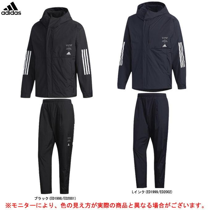 adidas(アディダス)M ID ウインドブレーカー ジャケット パンツ 上下セット(FYK51/FYK47)(スポーツ/トレーニング/防風/保温/裏起毛/男性用/メンズ)