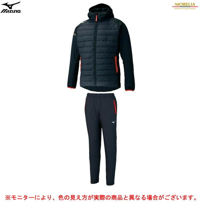 MIZUNO(ミズノ)モレリア テックフィルジャケット パンツ 上下セット(P2ME1501/P2MF1506)(スポーツ/トレーニング/ウェア/フードあり/セットアップ/ウインドブレーカー/防風/長袖/男性用/メンズ/男女兼用/ユニセックス)