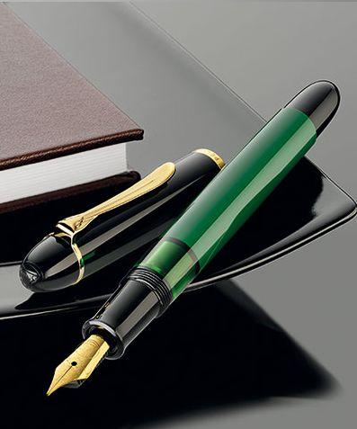 【送料無料】【あす楽対応】ペリカン 万年筆M120 グリーンブラックM120 B M F EF M120 Green-Black2016年 特別生産品お名前入れは不可