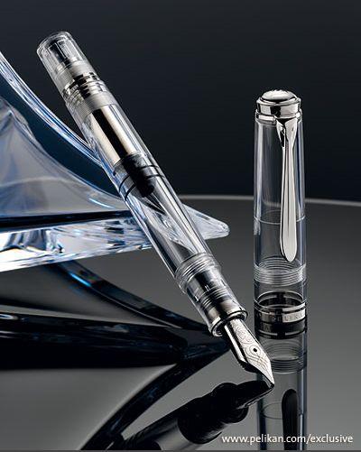 【送料無料】【あす楽対応】ペリカン Pelikan万年筆 スーベレーン M805デモンストレーター 特別生産品透明ボディ 無地 パーツ刻印無しペン先 EF F M B名前入れは不可
