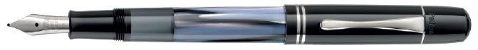 【送料無料】【あす楽可】 ペリカン 万年筆 特別生産品 M101N グレー/ブルー EF F M B 14金ペン先 ピストンメカニズム コンパクトサイズ ※名入れ不可