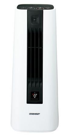 【送料無料】【あす楽可】 シャープ セラミックファンヒーター HX-HS1-W ホワイト系 プラズマクラスター7000搭載 人感センサー付 軽量コンパクト 暖房適用床面積 約8畳まで