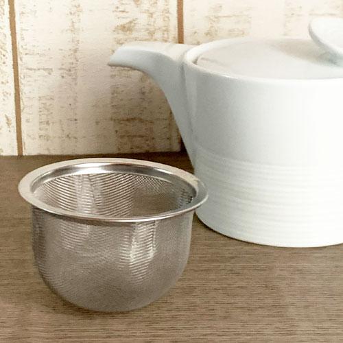 ポットにぴったりの便利な茶こし 白山陶器 公式通販 茶こしのみ 交換無料 ストレーナー 茶こし 麻の糸ポットS 専用 ステンレス製 ミストホワイトポットS
