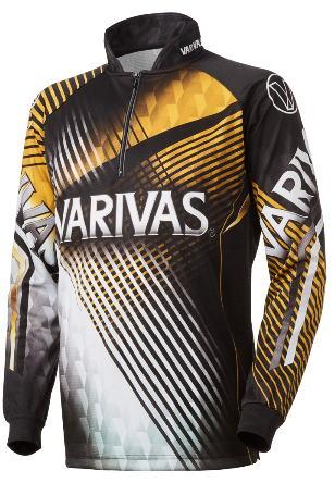 【鮎】【バリバス】2019ドライジップシャツ 長袖 VAZS-21カラー:ゴールドサイズ:3L【4513498106520】