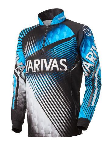 【鮎】【バリバス】2019ドライジップシャツ 長袖 VAZS-21カラー:ブルーサイズ:3L【4513498106605】