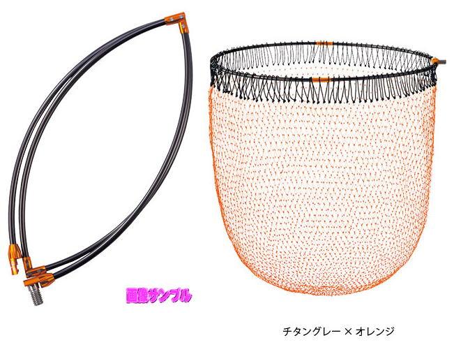 【がまかつ】タモ枠(四折り/ジュラルミン)がま磯タモ網セット GM-83745cm