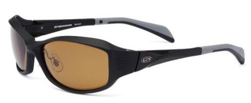 【ストームライダー】ファッションカーブSR-010-P-5フレームカラー:Mブラック×ブラックレンズカラー:マロンブラウン【4909852000458】