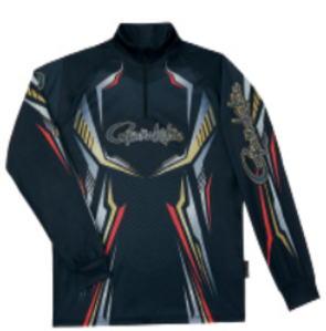 【鮎】【がまかつ】20202WAYプリントジップシャツ(長袖)品番:GM-3616カラー:ブラックサイズ:L【4549018595925】