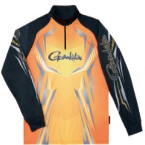 【鮎】【がまかつ】20202WAYプリントジップシャツ(長袖)品番:GM-3616カラー:オレンジサイズ:L【4549018596113】