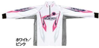 【鮎】【オーナー】2019ストレッチグラフィックシャツカラー:ホワイト/ピンクサイズ:M【4953873377235】