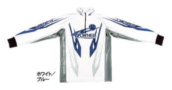 【鮎】【オーナー】2019ストレッチグラフィックシャツカラー:ホワイト/ブルーサイズ:L【4953873377129】