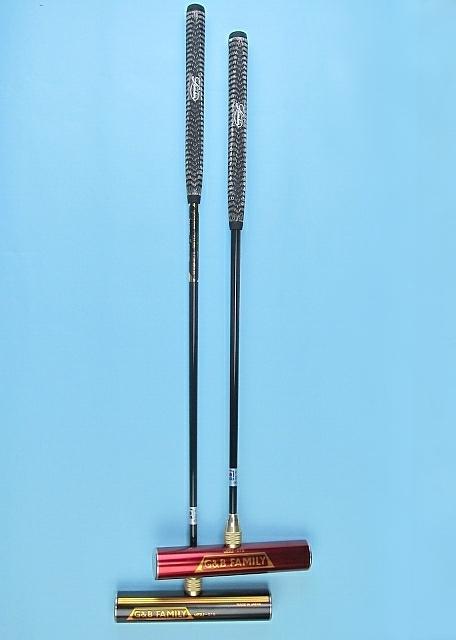 ゲートボールスティック 一本物・ステンレスヘッド40×200・スーパーハイカーボンシャフト ゲートボール用品