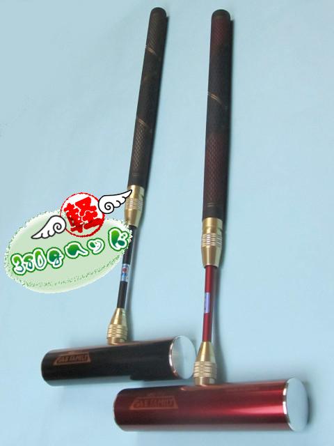 ゲートボールスティック 伸縮タイプ 軽量380gジュラルミンヘッド45×200・丸ゴムグリップ中間ロック式スライド型シャフト ゲートボール用品